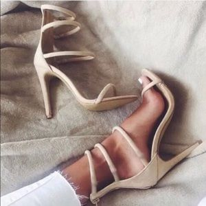 New nasty Gal on a level Strappy heels in box nude